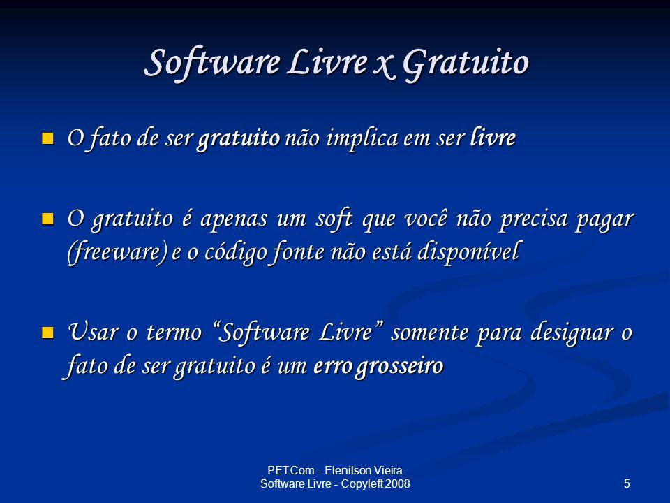 Software Livre x Gratuito