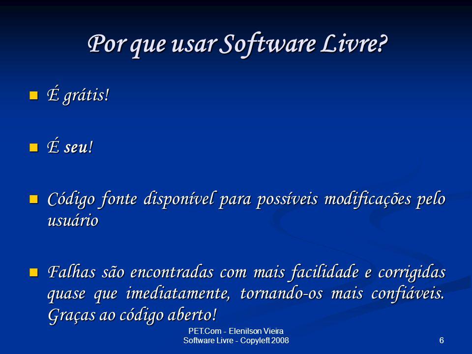 Por que usar Software Livre