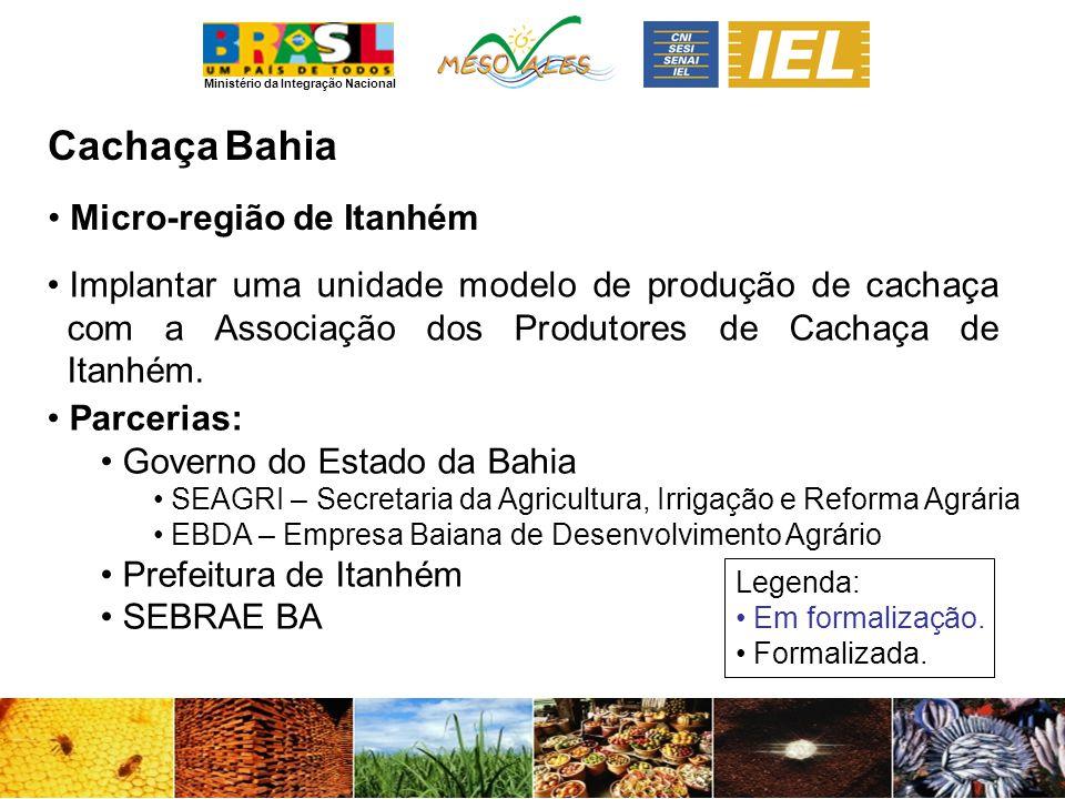 Cachaça Bahia Micro-região de Itanhém