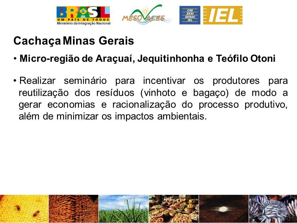 Cachaça Minas Gerais. Micro-região de Araçuaí, Jequitinhonha e Teófilo Otoni.