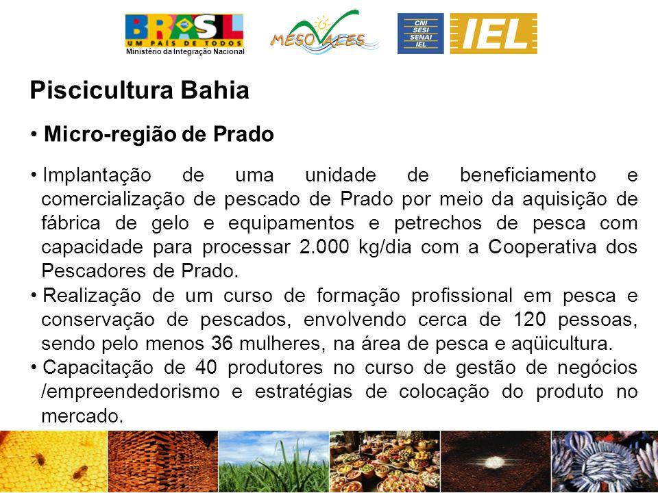 Piscicultura Bahia Micro-região de Prado