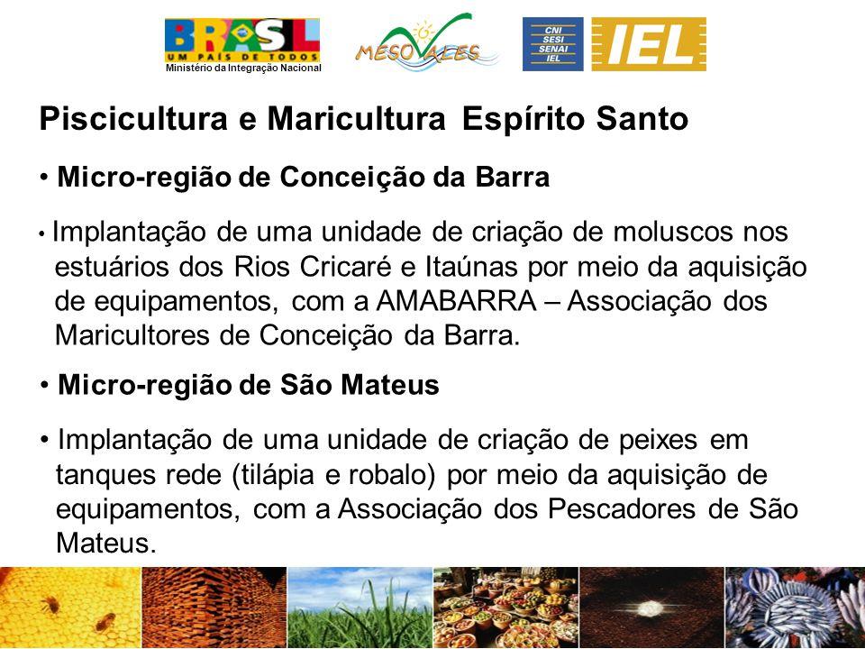 Piscicultura e Maricultura Espírito Santo