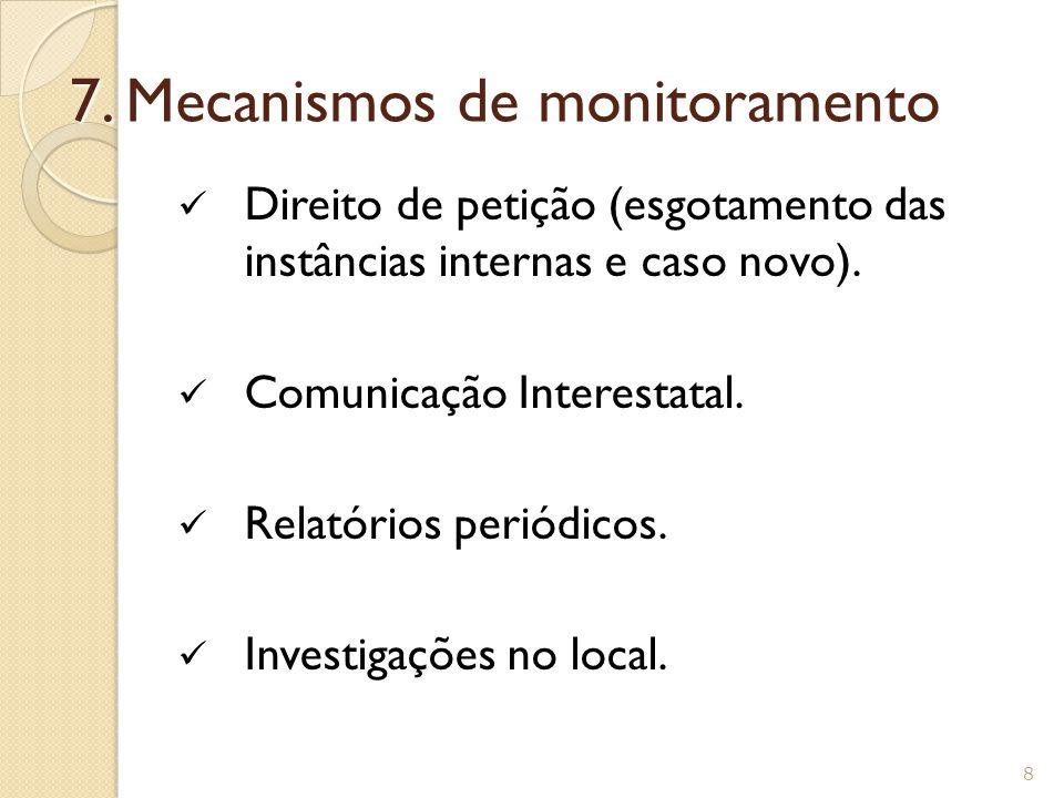 7. Mecanismos de monitoramento