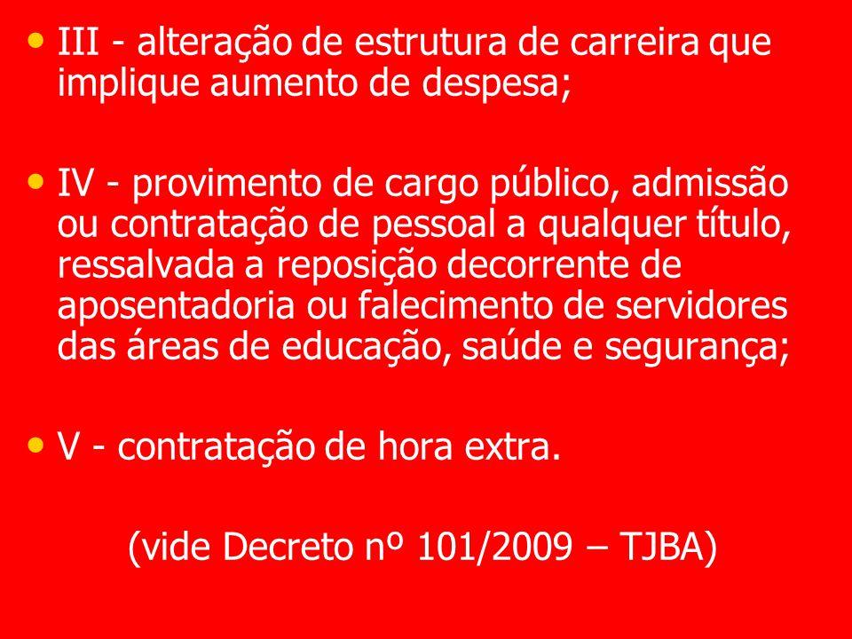 (vide Decreto nº 101/2009 – TJBA)