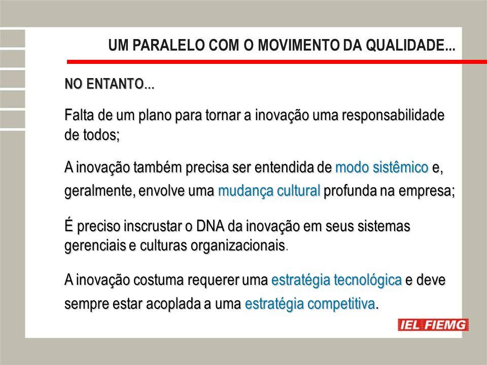 UM PARALELO COM O MOVIMENTO DA QUALIDADE...