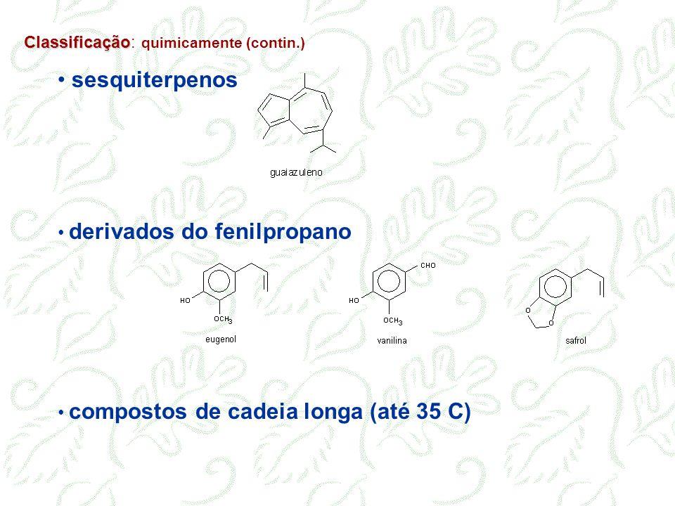 sesquiterpenos derivados do fenilpropano
