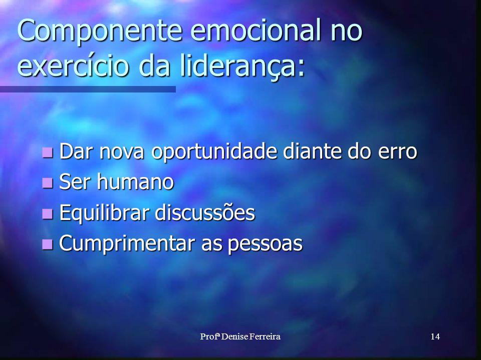 Componente emocional no exercício da liderança: