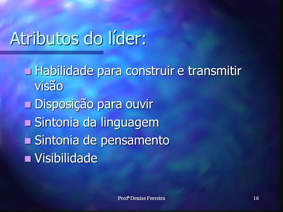 Atributos do líder: Habilidade para construir e transmitir visão