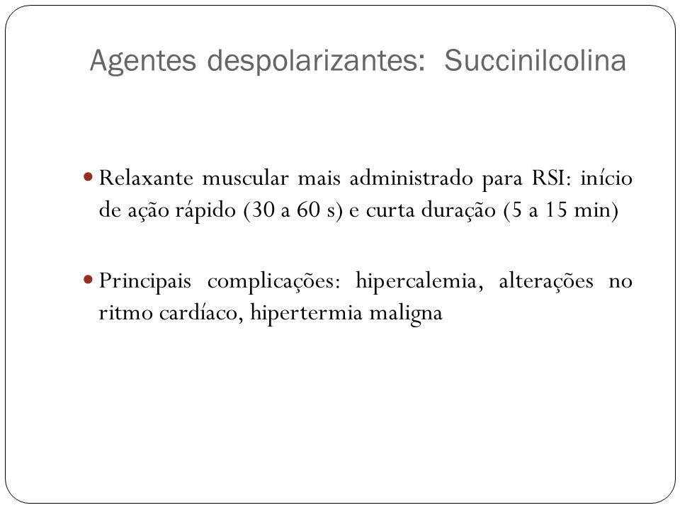 Agentes despolarizantes: Succinilcolina