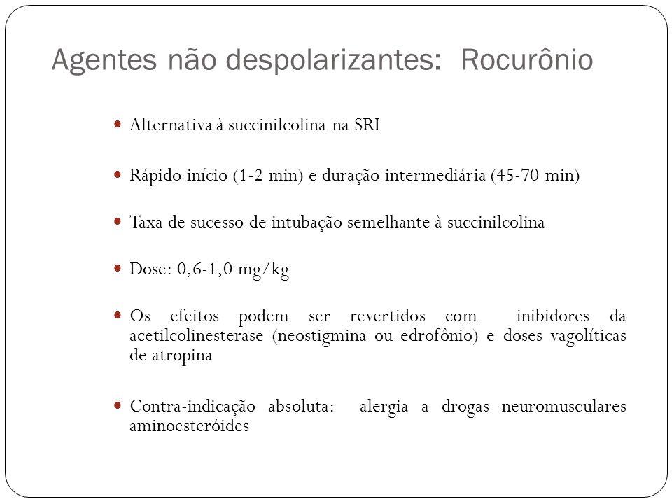 Agentes não despolarizantes: Rocurônio