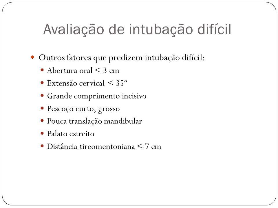 Avaliação de intubação difícil