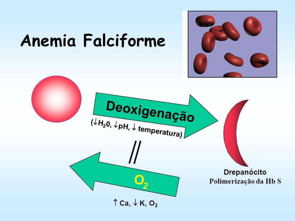 Anemia Falciforme Deoxigenação O2 (H20, pH,  temperatura)