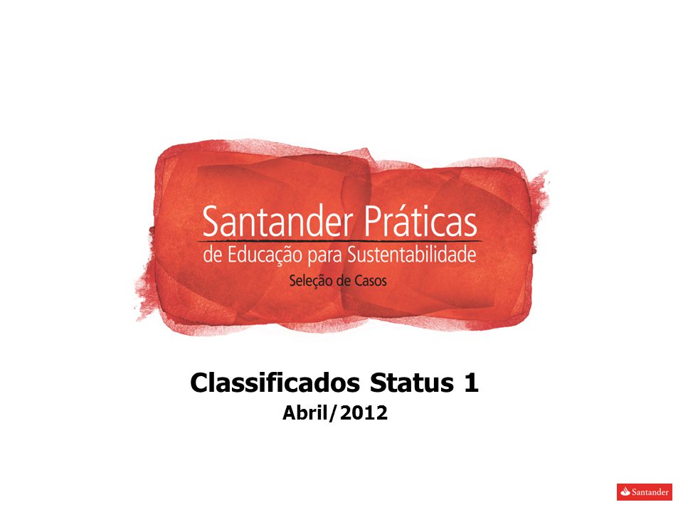Classificados Status 1 Abril/2012