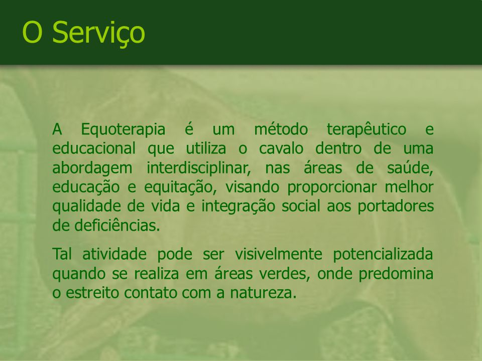 O Serviço