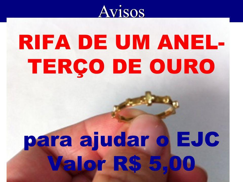 RIFA DE UM ANEL-TERÇO DE OURO