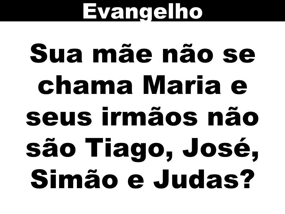 Evangelho Sua mãe não se chama Maria e seus irmãos não são Tiago, José, Simão e Judas