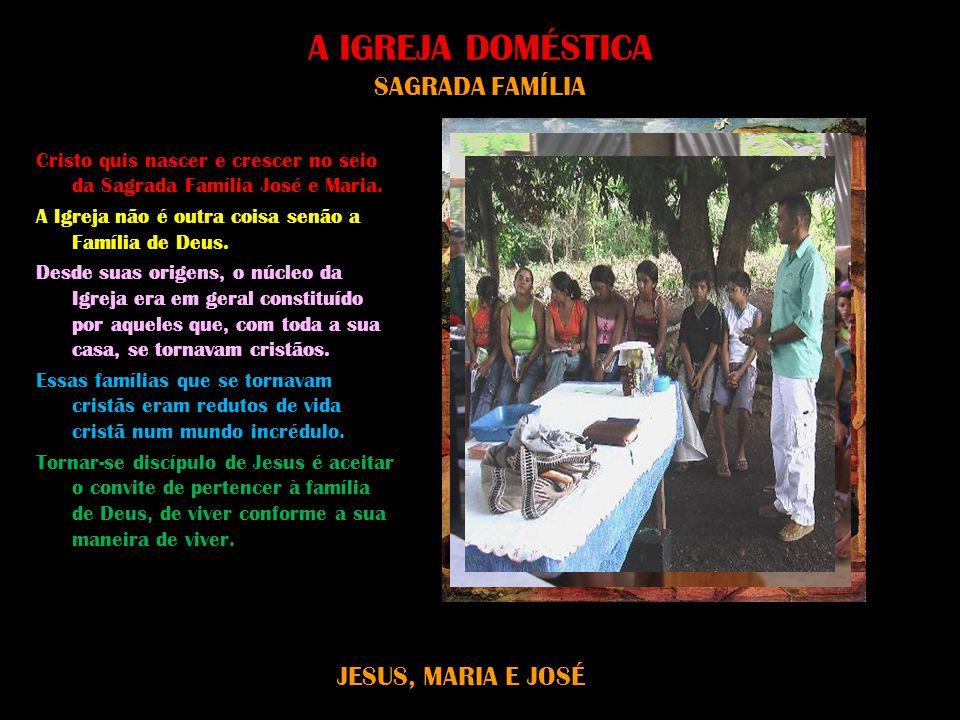 A IGREJA DOMÉSTICA SAGRADA FAMÍLIA