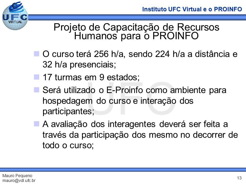Projeto de Capacitação de Recursos Humanos para o PROINFO