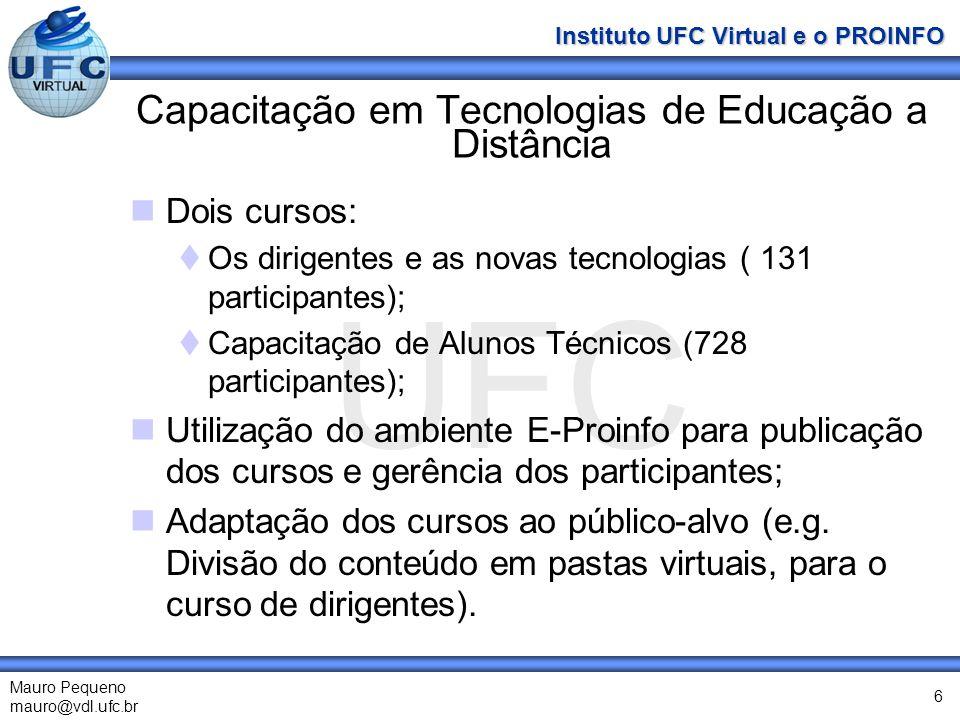 Capacitação em Tecnologias de Educação a Distância