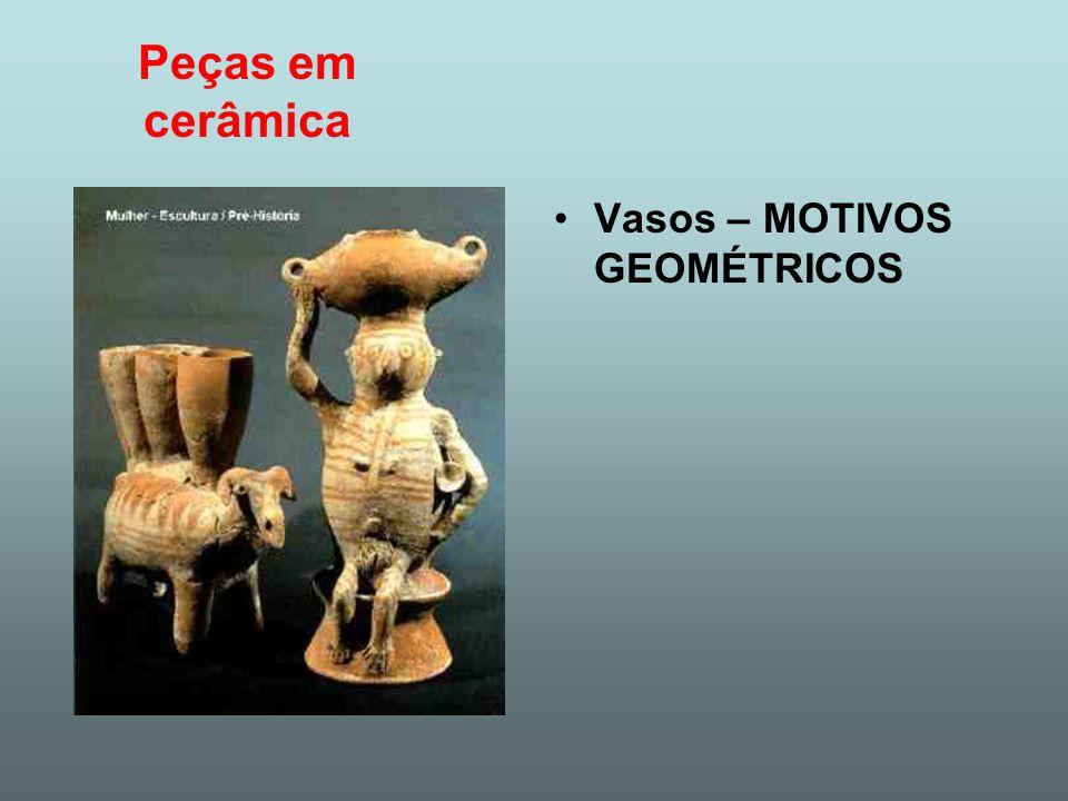 Peças em cerâmica Vasos – MOTIVOS GEOMÉTRICOS