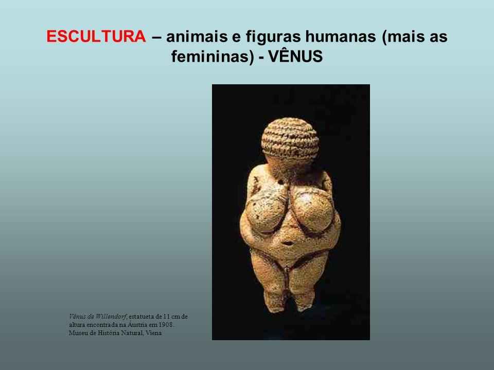 ESCULTURA – animais e figuras humanas (mais as femininas) - VÊNUS