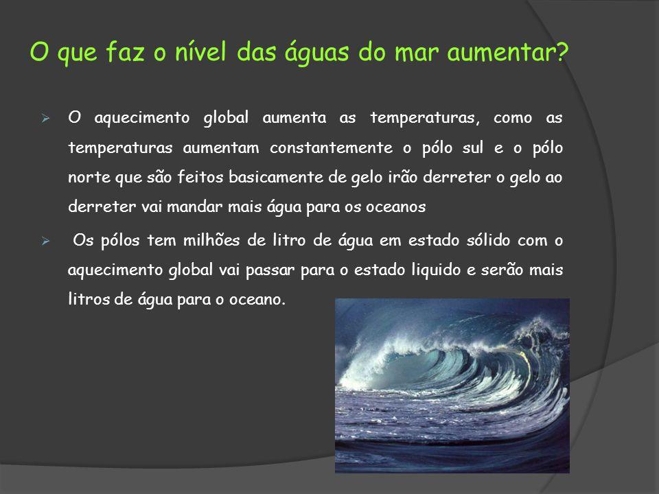 O que faz o nível das águas do mar aumentar