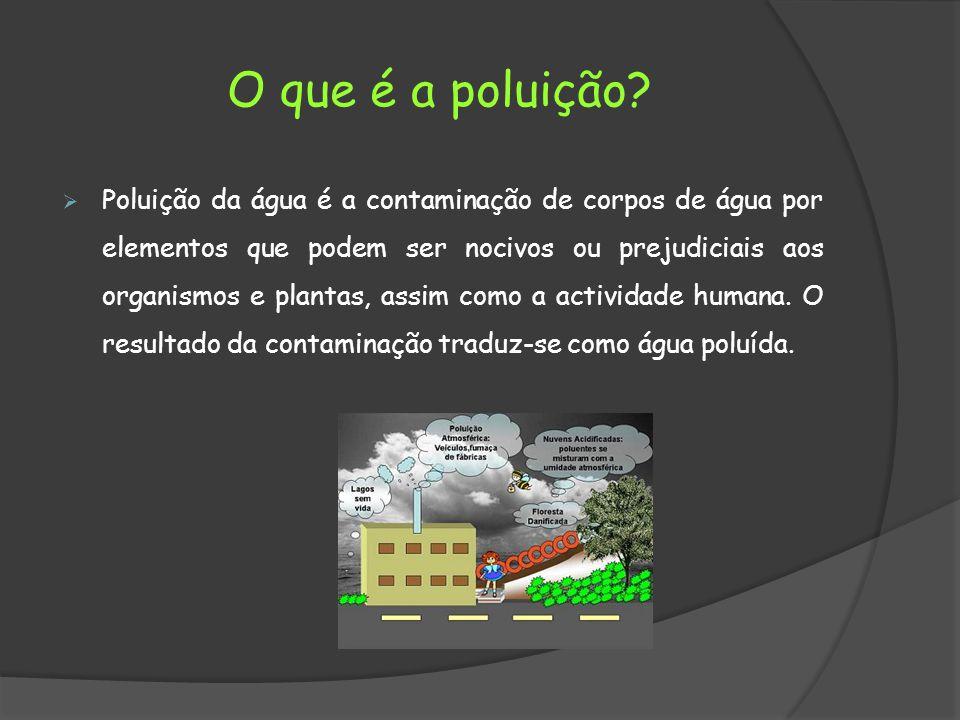 O que é a poluição