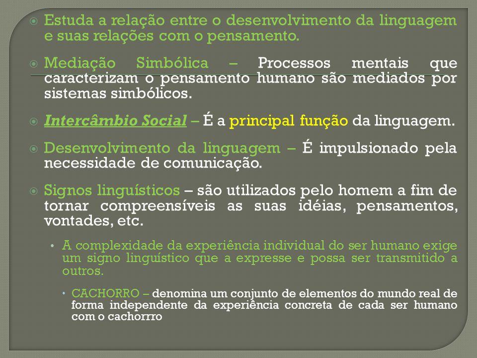 Intercâmbio Social – É a principal função da linguagem.