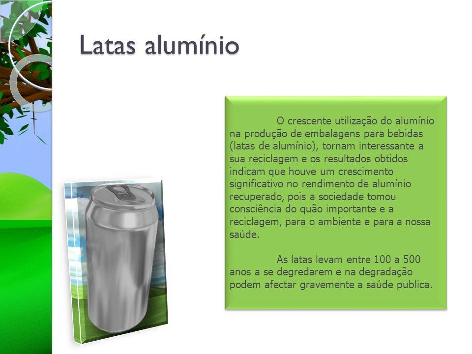 Latas alumínio