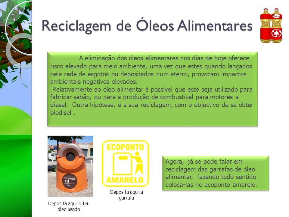 Reciclagem de Óleos Alimentares