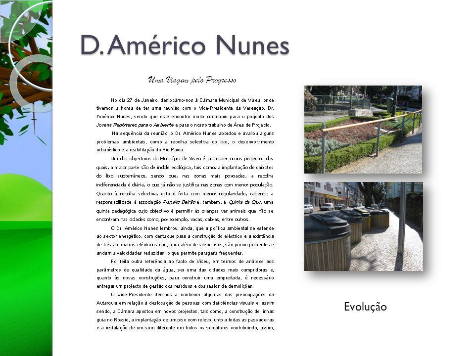 D. Américo Nunes Evolução