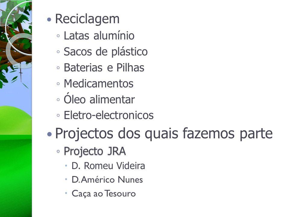 Projectos dos quais fazemos parte