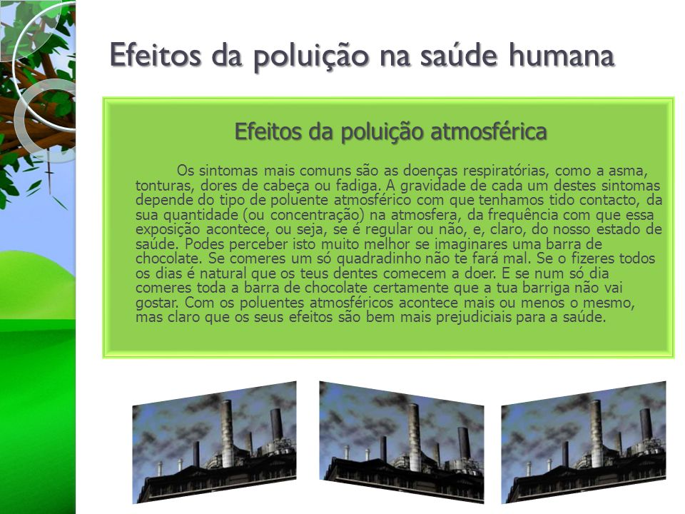 Efeitos da poluição na saúde humana