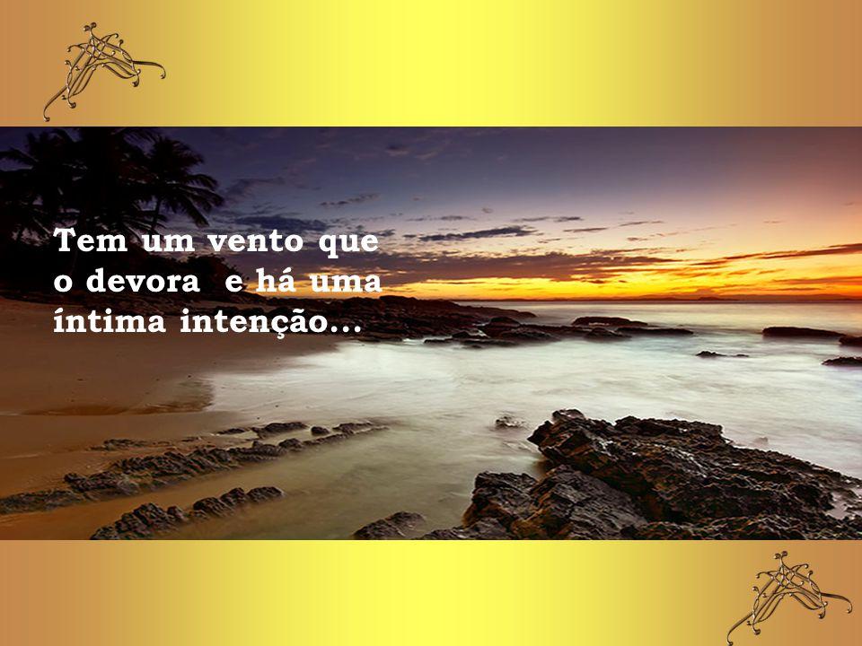 Tem um vento que o devora e há uma íntima intenção...