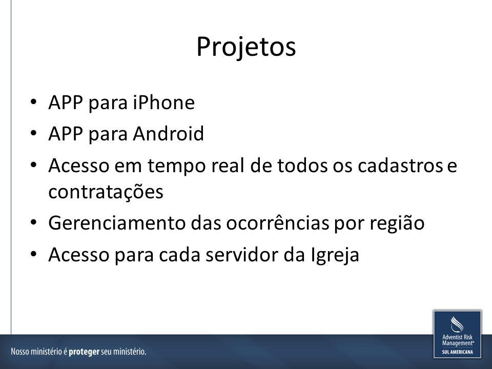 Projetos APP para iPhone APP para Android