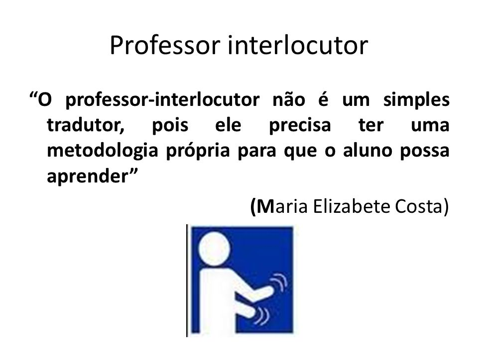 Professor interlocutor