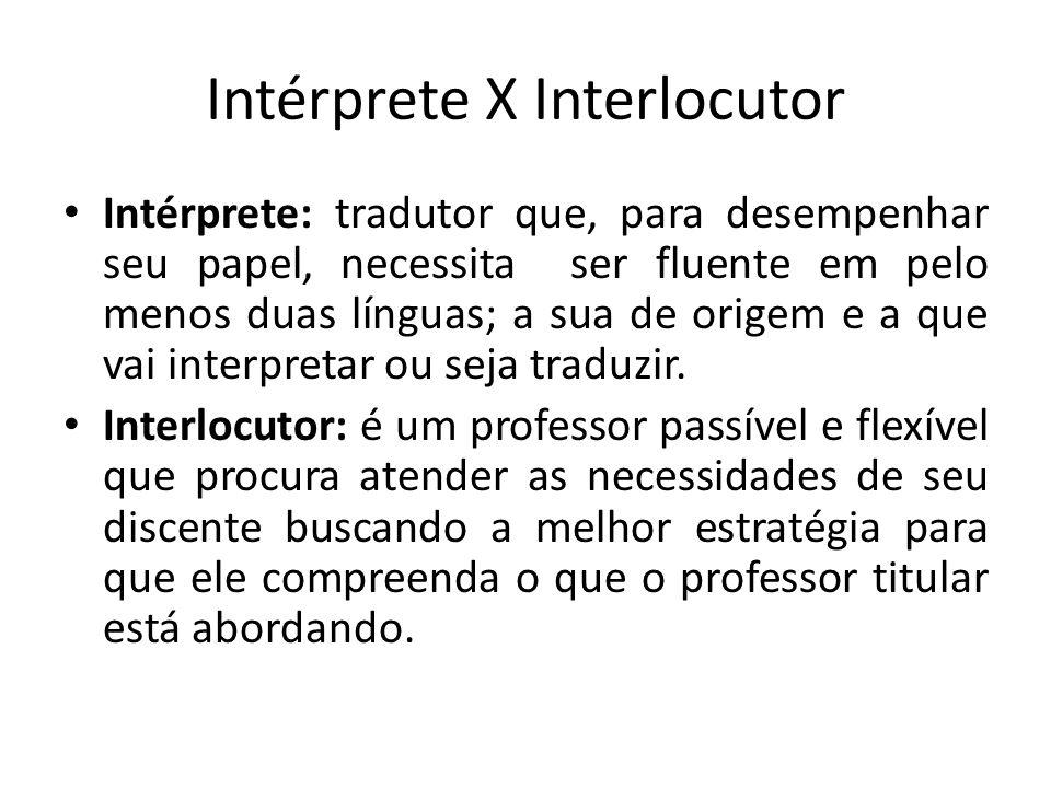 Intérprete X Interlocutor