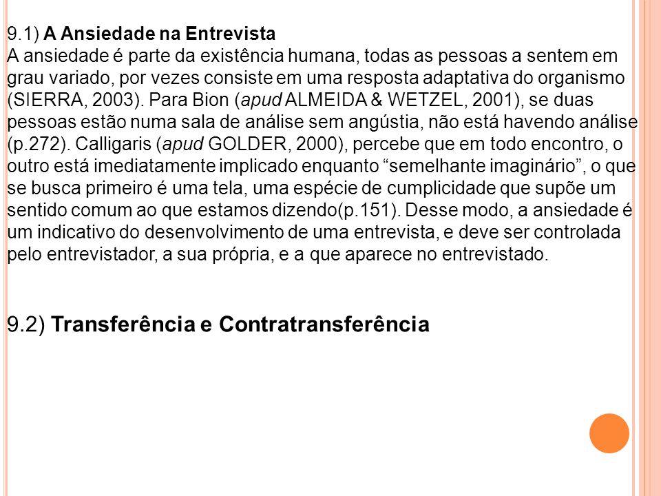 9.2) Transferência e Contratransferência