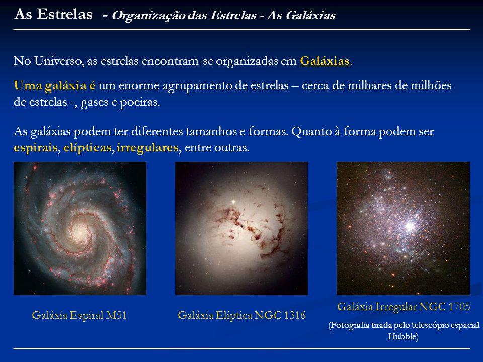 (Fotografia tirada pelo telescópio espacial Hubble)