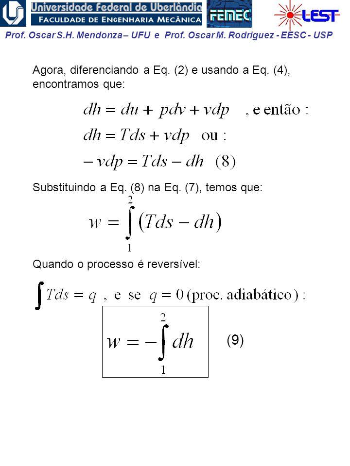 Agora, diferenciando a Eq. (2) e usando a Eq. (4), encontramos que: