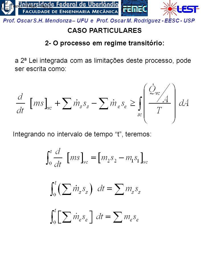 2- O processo em regime transitório: