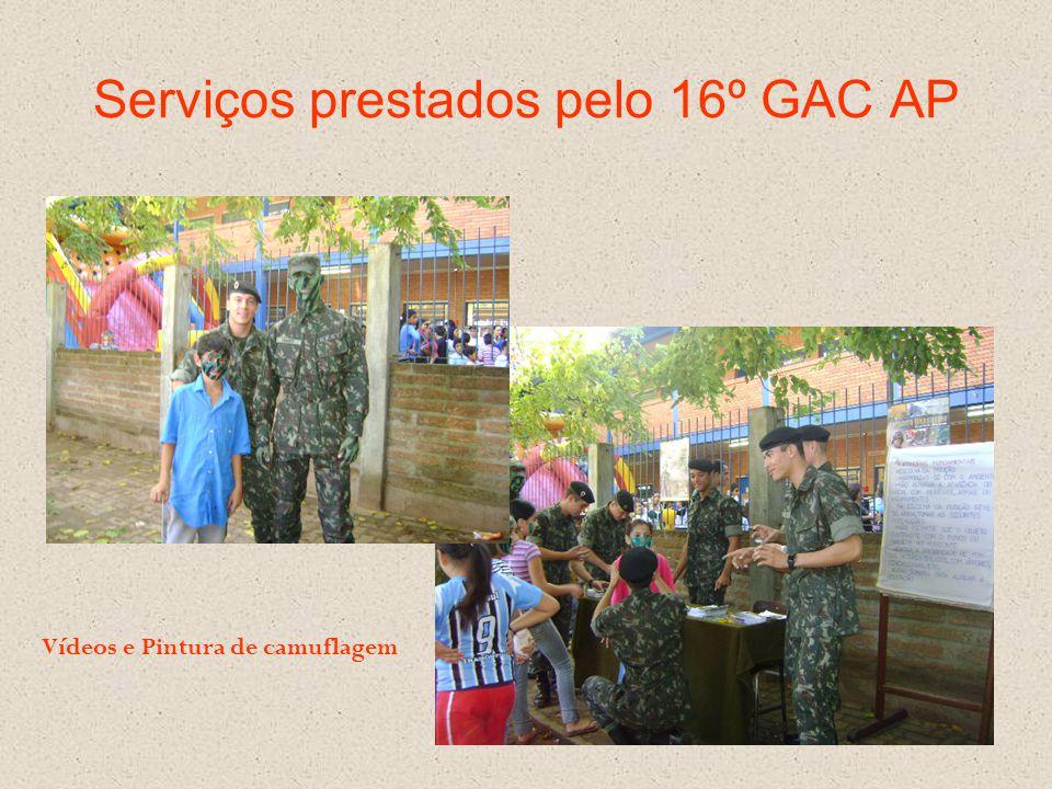 Serviços prestados pelo 16º GAC AP