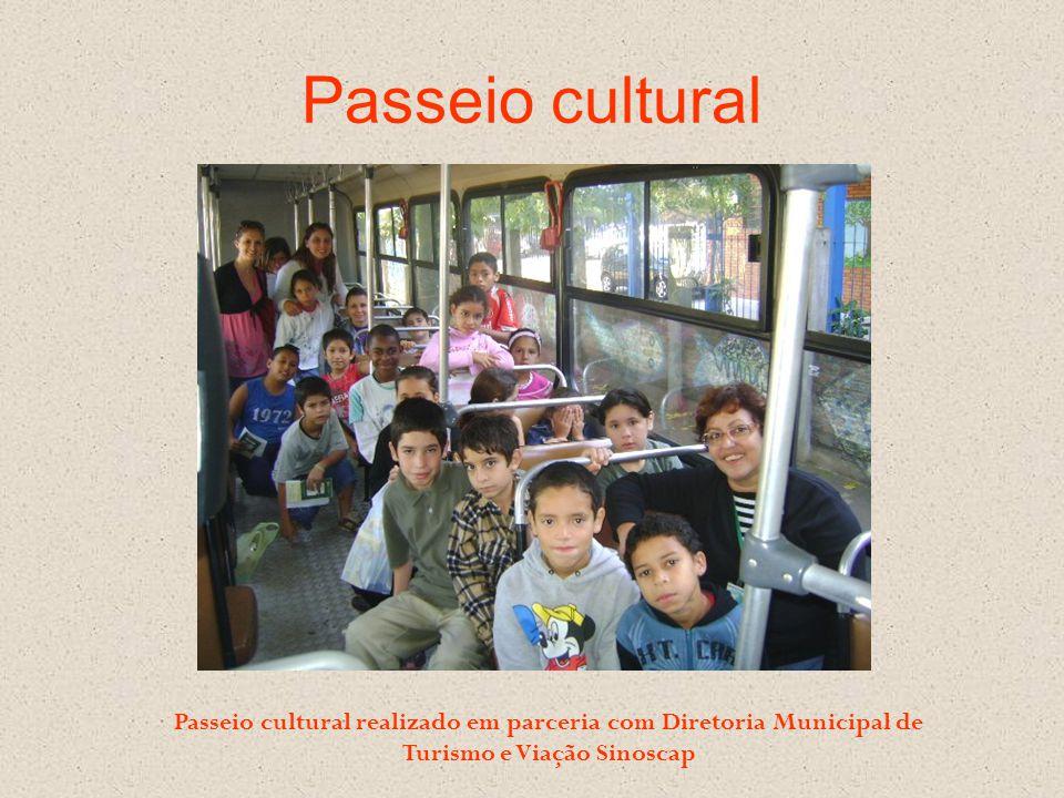 Passeio cultural Passeio cultural realizado em parceria com Diretoria Municipal de Turismo e Viação Sinoscap.