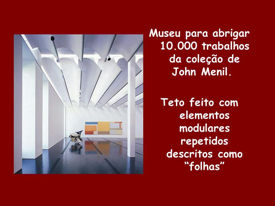 Museu para abrigar 10.000 trabalhos da coleção de John Menil.