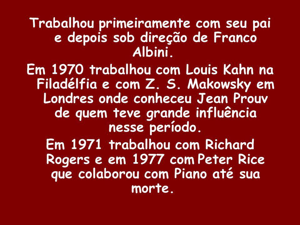 Trabalhou primeiramente com seu pai e depois sob direção de Franco Albini.