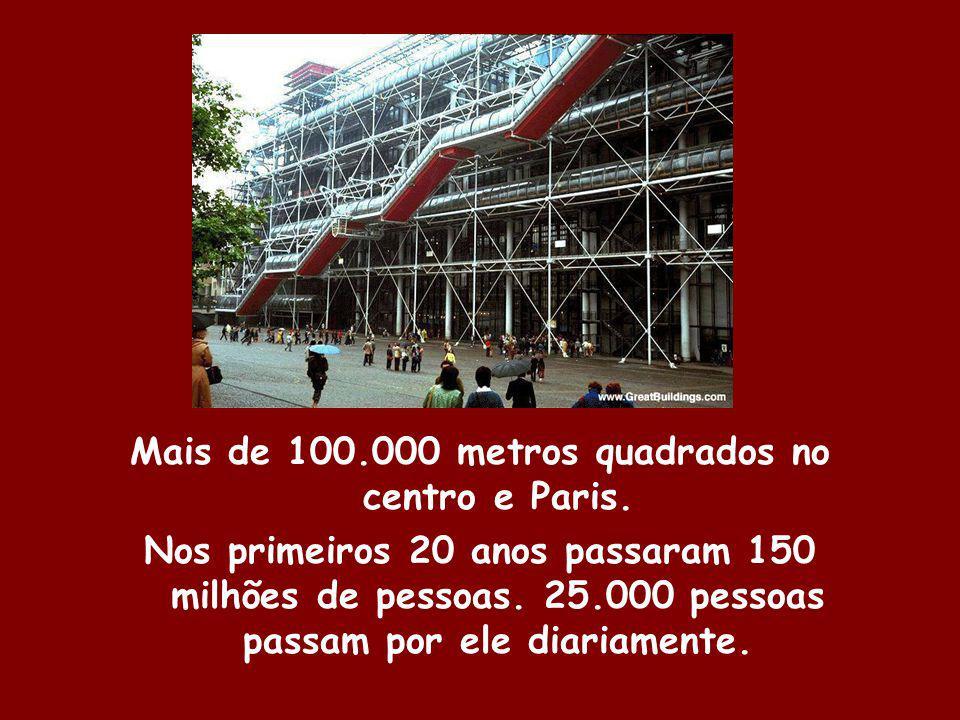 Mais de 100.000 metros quadrados no centro e Paris.