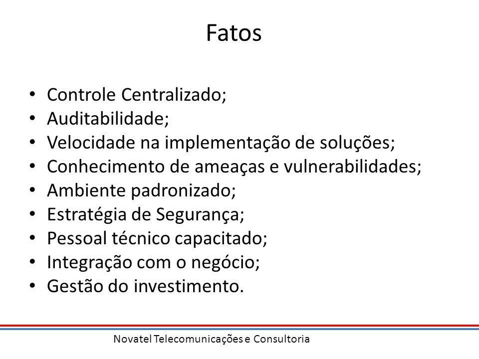 Fatos Controle Centralizado; Auditabilidade;