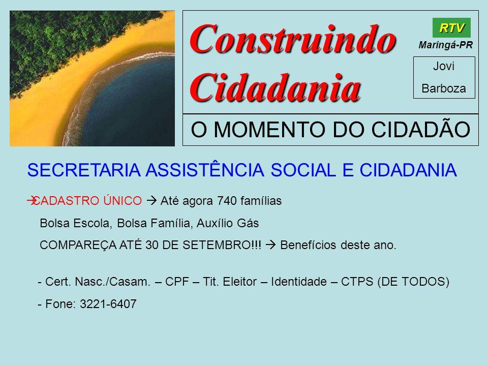 SECRETARIA ASSISTÊNCIA SOCIAL E CIDADANIA
