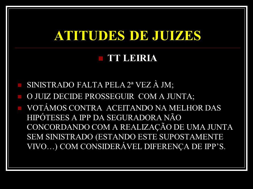 ATITUDES DE JUIZES TT LEIRIA SINISTRADO FALTA PELA 2ª VEZ À JM;