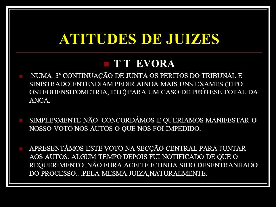 ATITUDES DE JUIZES T T EVORA